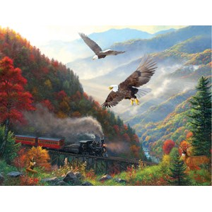 "SunsOut (53135) - Mark Keathley: ""Great Smoky Mountain Railroad"" - 500 pièces"
