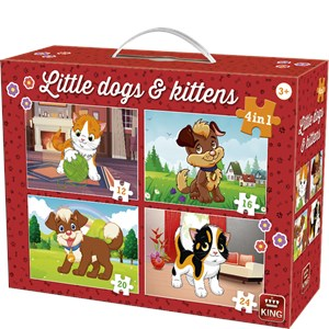 "King International (05641) - ""Little Dogs & Kittens"" - 12 16 20 24 pièces"