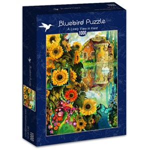 "Bluebird Puzzle (70205) - David Galchutt: ""A Lively View in Kent"" - 1000 pièces"