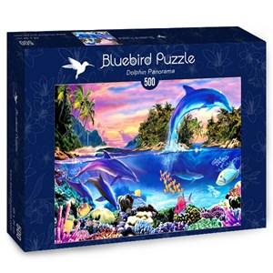 "Bluebird Puzzle (70132) - Robin Koni: ""Dolphin Panorama"" - 500 pièces"