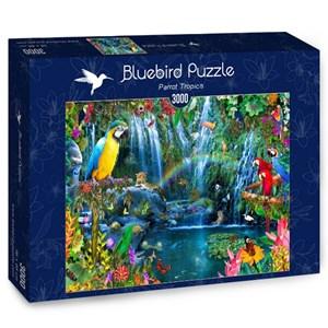"""Bluebird Puzzle (70030) - Alixandra Mullins: """"Parrot Tropics"""" - 3000 pièces"""