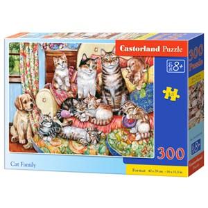"""Castorland (B-030439) - """"Cat Family"""" - 300 pièces"""