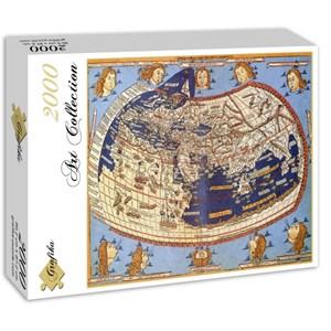 """Grafika (00919) - Claudius Ptolemy: """"Carte du Monde, 1482"""" - 2000 pièces"""