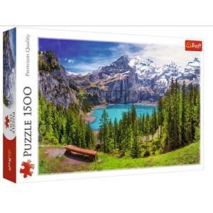 """Trefl (26166) - """"Lac d'Oeschinen, Alpes, Suisse"""" - 1500 pièces"""