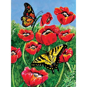 "SunsOut (71455) - Charlsie Kelly: ""Monarch and Swallowtails"" - 1000 pièces"