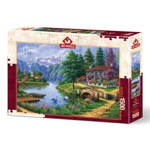 """Art Puzzle (5371) - """"Lake Village"""" - 1500 pièces"""