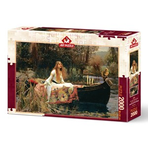 """Art Puzzle (5478) - John William Waterhouse: """"The Lady of Shalott, 1888"""" - 2000 pièces"""