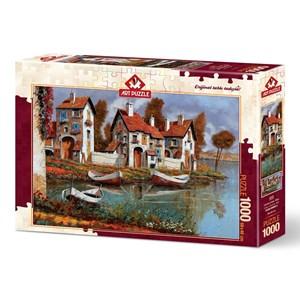 """Art Puzzle (4232) - """"Case a Cerchio, Italie"""" - 1000 pièces"""
