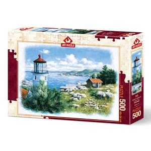 """Art Puzzle (5076) - """"Lantern on the Shore"""" - 500 pièces"""