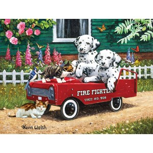 """SunsOut (13321) - Kevin Walsh: """"Fireman Friends"""" - 300 pièces"""