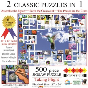 "SunsOut (10172) - Irv Brechner: ""Puzzle Combo, Taking Flight"" - 500 pièces"