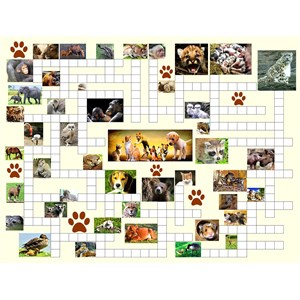 "SunsOut (10160) - Irv Brechner: ""Puzzle Combo, Animal Nursery"" - 500 pièces"