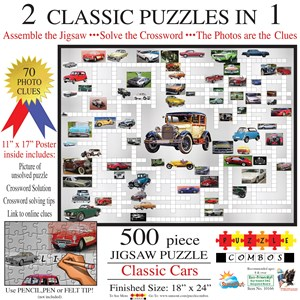 "SunsOut (10166) - Irv Brechner: ""Puzzle Combo, Classic Cars"" - 500 pièces"