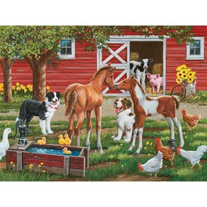"""SunsOut (30410) - William Vanderdasson: """"Welcome the New Pony"""" - 300 pièces"""