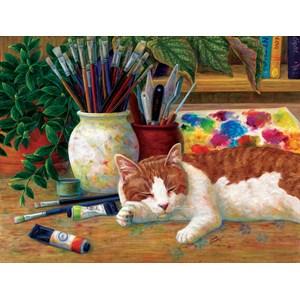 """SunsOut (31613) - Linda Elliott: """"Painter's Helper"""" - 500 pièces"""