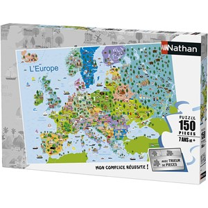 "Nathan (86835) - ""Europe"" - 150 pièces"
