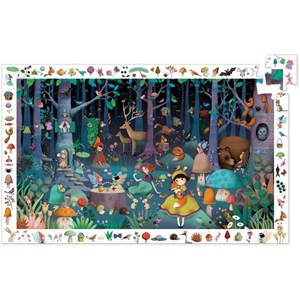 """Djeco (07504) - """"Puzzle Observation, Forêt Enchantée"""" - 100 pièces"""