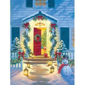 """SunsOut (55942) - Corbert Gauthier: """"Christmas Porch"""" - 500 pièces"""