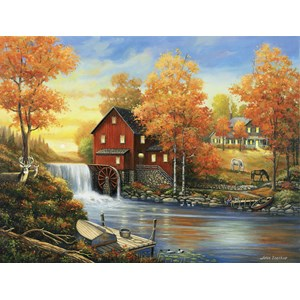 """SunsOut (62112) - John Zaccheo: """"Sunset at the Old Mill"""" - 500 pièces"""
