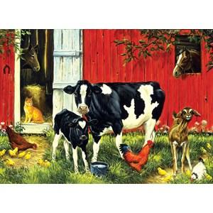 """SunsOut (52624) - Linda Picken: """"Old MacDonald's Farm"""" - 500 pièces"""