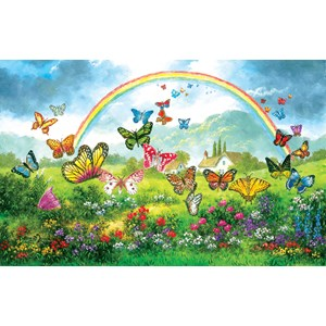 """SunsOut (48317) - Dennis Lewan: """"Butterfly Holiday"""" - 550 pièces"""