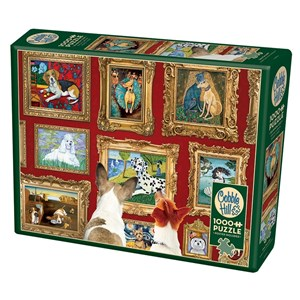 """Cobble Hill (80014) - Gretchen Serrano: """"Dog Gallery"""" - 1000 pièces"""