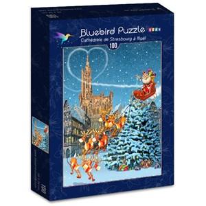 """Bluebird Puzzle (70405) - François Ruyer: """"Cathédrale de Strasbourg à Noël"""" - 100 pièces"""