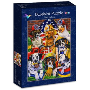 "Bluebird Puzzle (70394) - Jenny Newland: ""Hero Helpers"" - 100 pièces"