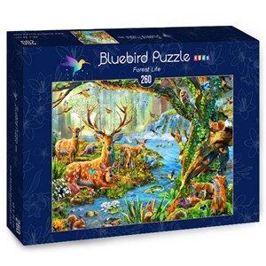 "Bluebird Puzzle (70385) - Adrian Chesterman: ""Forest Life"" - 260 pièces"