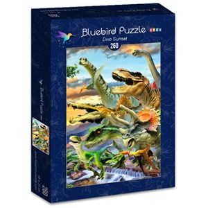 "Bluebird Puzzle (70374) - Howard Robinson: ""Dino Sunset"" - 260 pièces"