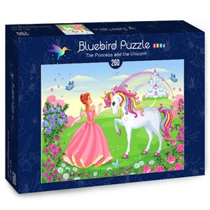 "Bluebird Puzzle (70376) - Olena Piatenko: ""The Princess and the Unicorn"" - 260 pièces"