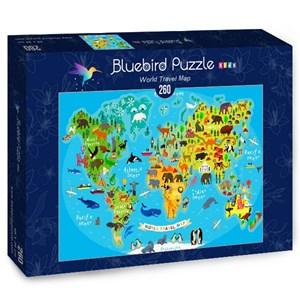 "Bluebird Puzzle (70378) - ""World Travel Map"" - 260 pièces"