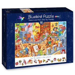 """Bluebird Puzzle (70350) - Lyudmyla Kharlamova: """"Search and Find, The Toy Factory"""" - 150 pièces"""