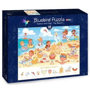 "Bluebird Puzzle (70351) - Lyudmyla Kharlamova: ""Search and Find, The Beach"" - 100 pièces"