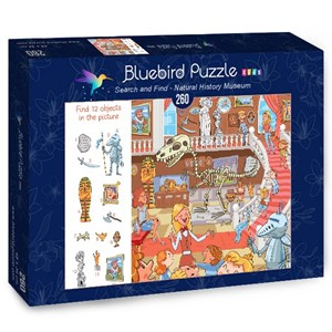 "Bluebird Puzzle (70352) - Lyudmyla Kharlamova: ""Search and Find, Natural History Museum"" - 260 pièces"