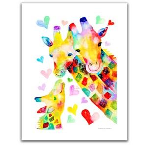 """Pintoo (h2092) - Reina Sato: """"Giraffe Family"""" - 300 pièces"""