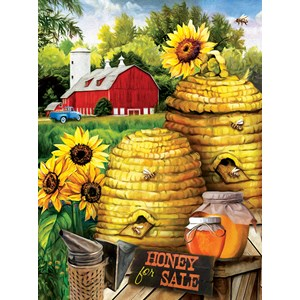 """SunsOut (29880) - Tom Wood: """"Bee Farm"""" - 300 pièces"""