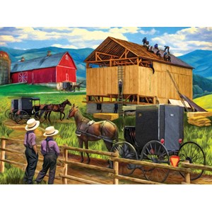"""SunsOut (28910) - Tom Wood: """"Raising the Barn"""" - 500 pièces"""