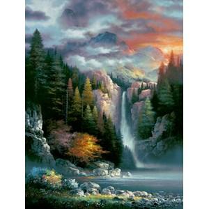 """SunsOut (18034) - James Lee: """"Misty Falls"""" - 300 pièces"""