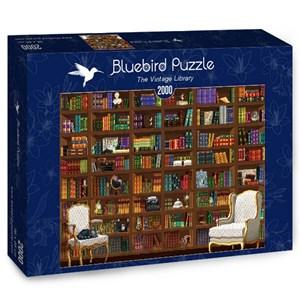 "Bluebird Puzzle (70274) - Matthieu Martin: ""The Vintage Library"" - 2000 pièces"