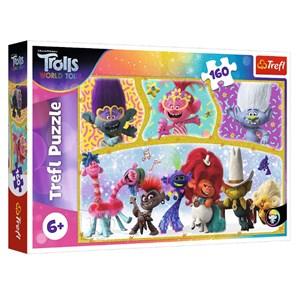 "Trefl (15396) - ""Trolls World Tour"" - 160 pièces"