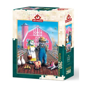 "Art Puzzle (5028) - Don Roth: ""Cat Farm"" - 260 pièces"