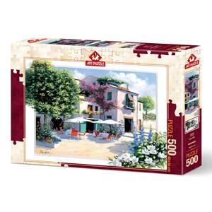 """Art Puzzle (5079) - Peter Motz: """"Cafe Villa"""" - 500 pièces"""