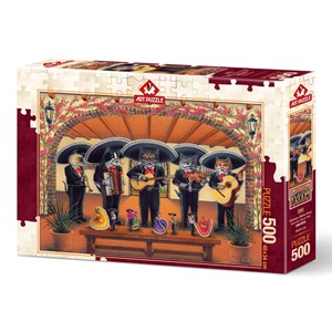 "Art Puzzle (5082) - Don Roth: ""Flamenco Meow Team"" - 500 pièces"