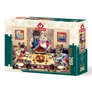 """Art Puzzle (5025) - Don Roth: """"Cat Family"""" - 260 pièces"""
