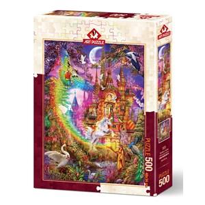 """Art Puzzle (5075) - Ciro Marchetti: """"Rainbow Castle"""" - 500 pièces"""