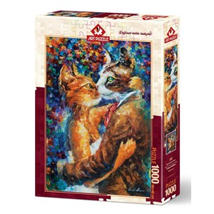 """Art Puzzle (4226) - """"Dance of the Cats in Love"""" - 1000 pièces"""