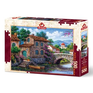 "Art Puzzle (5070) - Arturo Zarraga: ""Flowery Channel"" - 500 pièces"