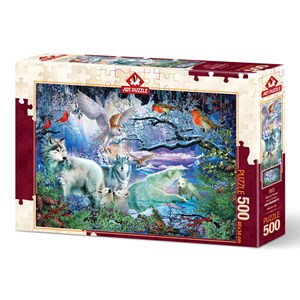 """Art Puzzle (5073) - Ciro Marchetti: """"Glacier Forest"""" - 500 pièces"""