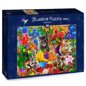 "Bluebird Puzzle (70393) - Gerald Newton: ""Kitten Fun"" - 100 pièces"